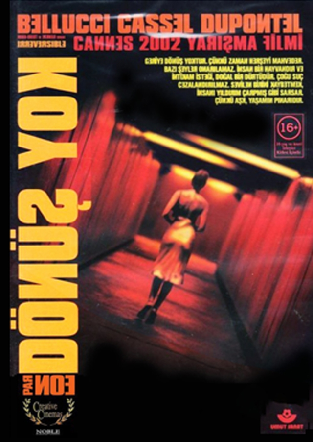 Dönüş Yok – Irréversible (2002) filminin Türkçe afişi