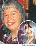 Bettie Page'in yaşlılık günlerinde çekilen ender fotoğraflarından biri