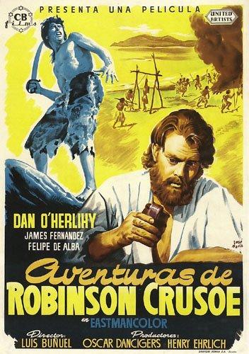 Robinson Crusoe (1954) filminin afişi