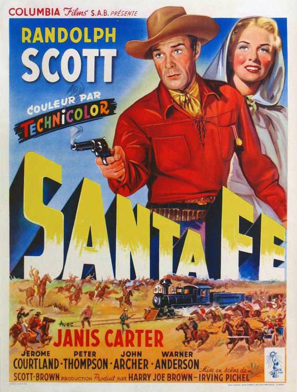 Santa Fe (1951) filminin afişi