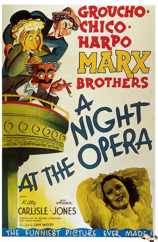 A Night at the Opera (1935) filminin afişi